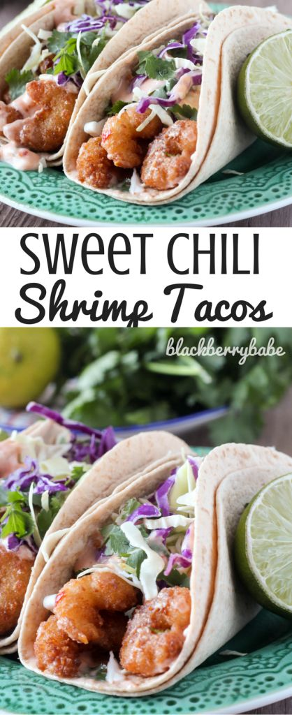 Crispy Sweet Chili Shrimp Tacos