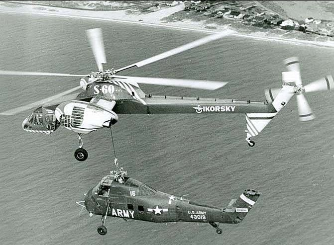 "Our ""baby"" lifting an H-34 (S-58)"