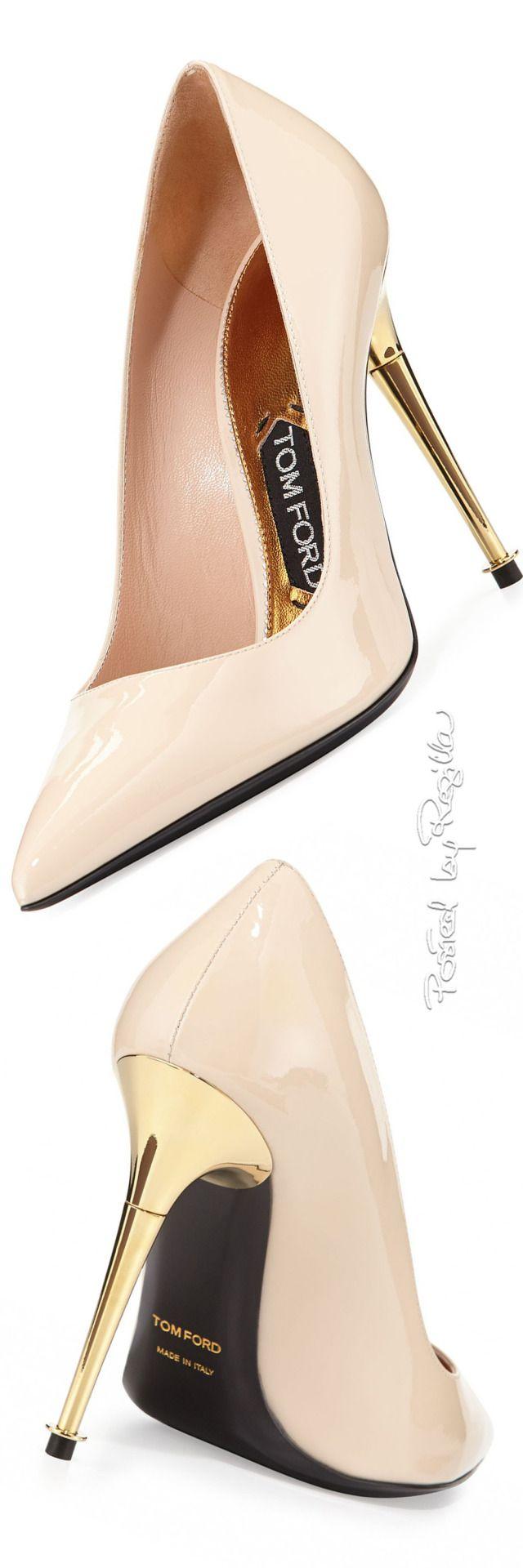 Love the gold stilettos!