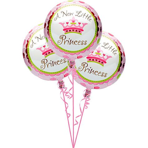 A 3 pack Of 18 Diameter Little Princess Design Foil