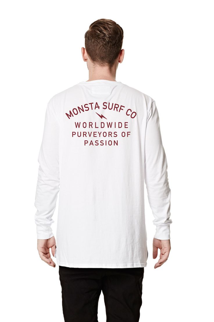 Mens Purveyors LS Tee White from Monsta Surf