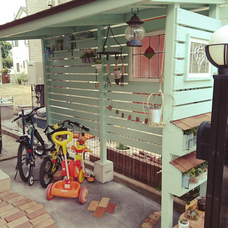雑貨/自転車置き場/ペンキ/ステンドグラス/DIY/ナチュラル…などのインテリア実例 - 2016-06-08 14:33:40 | RoomClip(ルームクリップ)