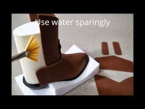 <3 How to make a Fondant Cowboy Boot by Cake Structure - YouTube