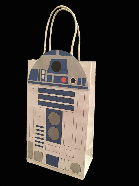 Star Wars R2D2 Party Favor Bag Printable, Star Wars Birthday Party Goodie Bag…
