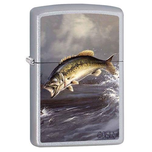 Leaping Bass Zippo Lighter