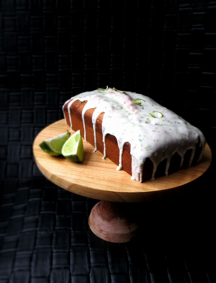 Hawaiian Lime Loaf Cake with Lime and Coconut Glaze