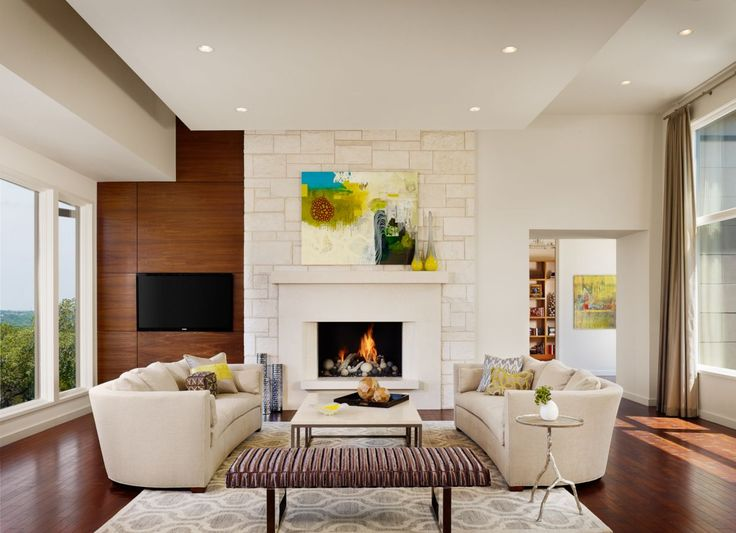 A Subtle Asymmetrical Approach Brings A New Take On This Clean, Modern  Living Room From