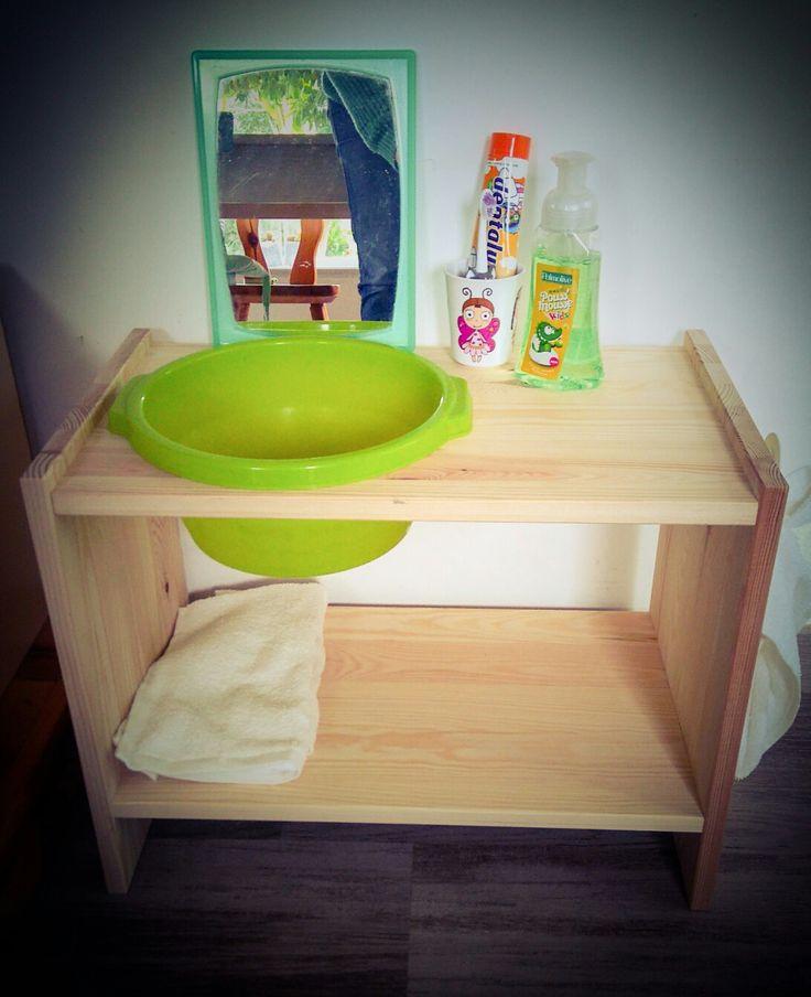 Diy Lavabo bébé Montessori ikea hack