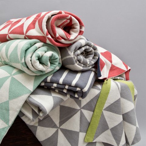 Would love these for the boys room!  Great site for designer bedding | Coral Wind Farm Patterned Throw