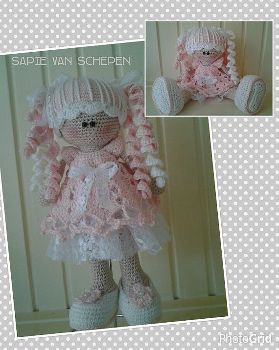 crochet pattern doll Nienke by haakspul on Etsy