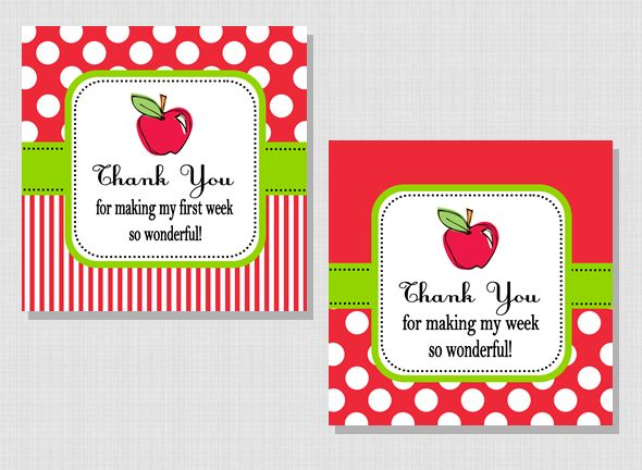 FREE printable gift tag... Thank your child s teacher for a great first week! If the first week ...
