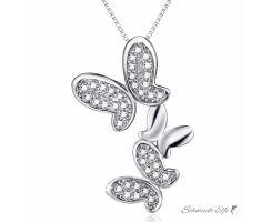 Anhänger Schmetterlings Tanz  925 Silber mit Zirkonias...