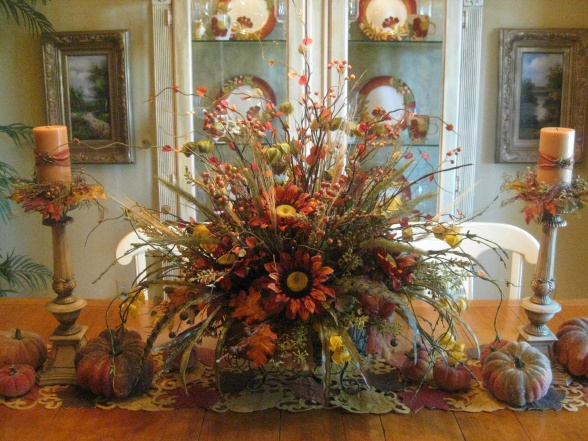 1000 images about fall floral arrangements on pinterest wall basket floral arrangements and - Fall arrangements for tables ...