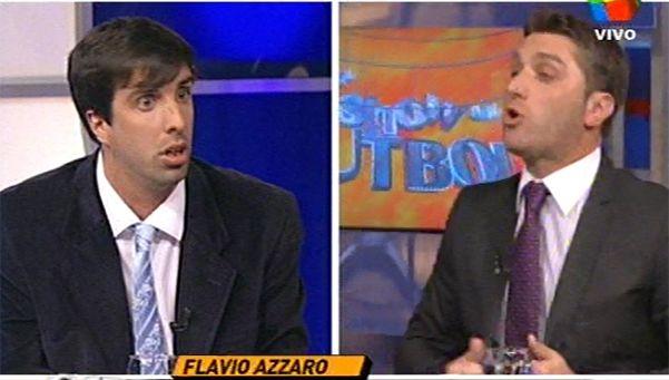 """Azzaro vs Fava, la nueva atracción en #ElProgramaDeFantino. El periodista de Racing se incorporó a El Show del Fútbol hace dos programas y sus comentarios despertaron risa y polémica en Twitter. """"Desenchufá la máquina de humo"""", le espetó su colega. Mirá el video http://www.diariopopular.com.ar/c169281"""