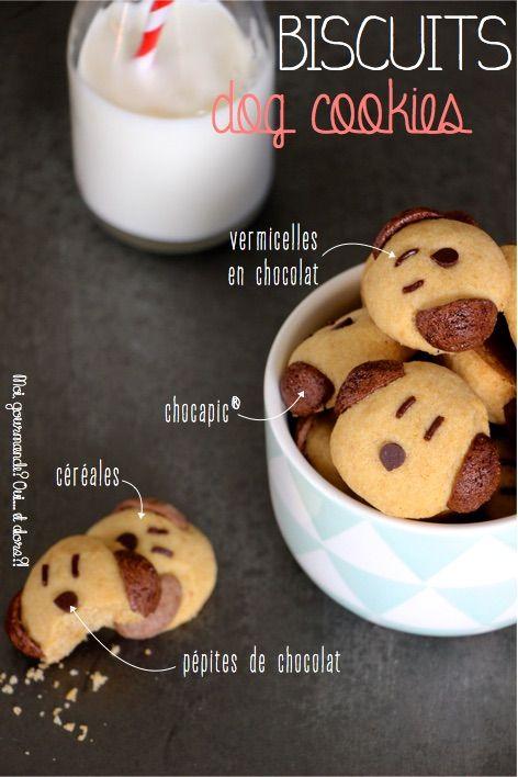 C'est en flânant sur Pinterest que je suis tombée sur cette photo de biscuits trop mignons… Rien de tel que des petits sablésrigolos pour faire plaisir à nos chers petits monstres&#823…