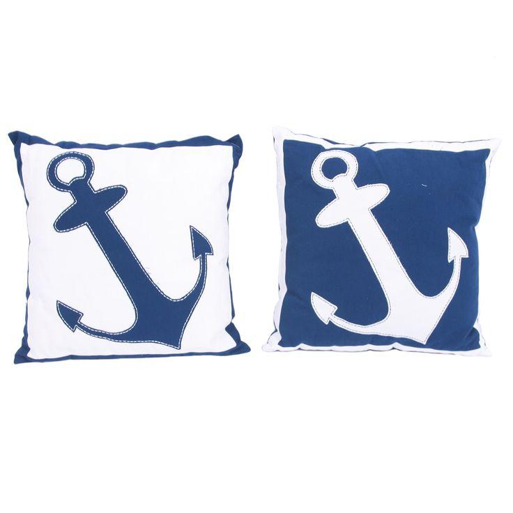 Latitude 38 Anchor Placement Cotton Throw Pillow