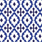 ikat - blue by minimiel, click to purchase fabric