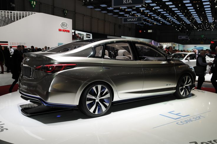 """Infiniti LE  An electric concept car nicknamed the """"luxury Leaf"""" after Nissan's more humble EV.  2013 Geneva Motor Show 📸 by Norbert Aepli, Switzerland (CC-BY)"""
