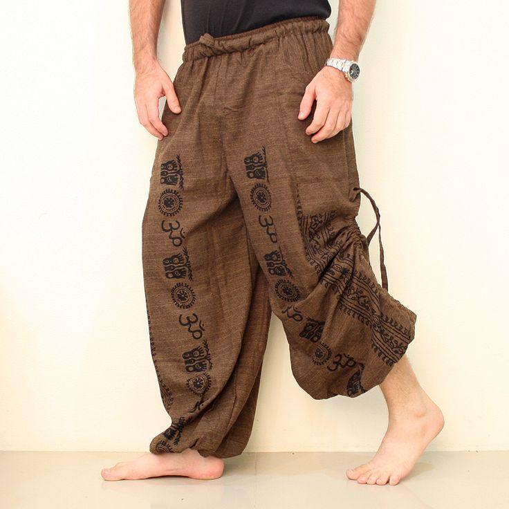 Cotton Harem Pants Men OM. Buy Cheap Yoga Pants. We ship worldwide. #yogapants #yoga #namaste