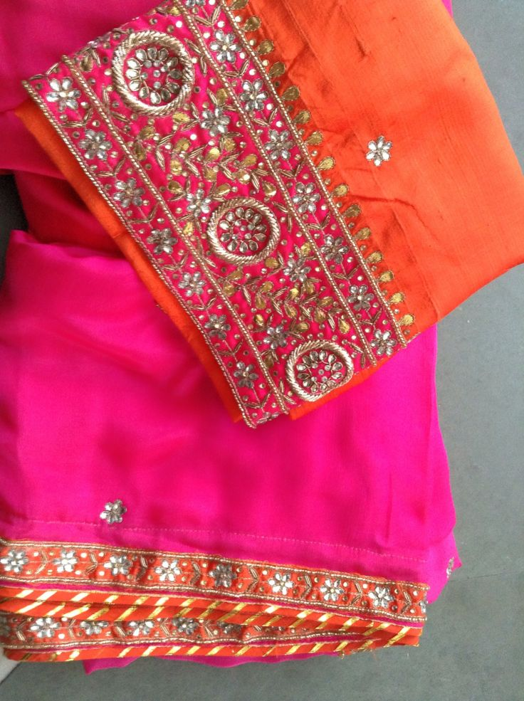 Orange and Pink - two very strong colours in their own right, perfect partners together