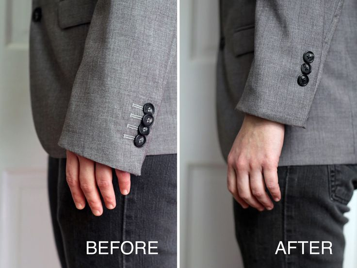 Tailor at home! Learn how to shorten a sleeve with this easy tutorial. No sewing machine needed.