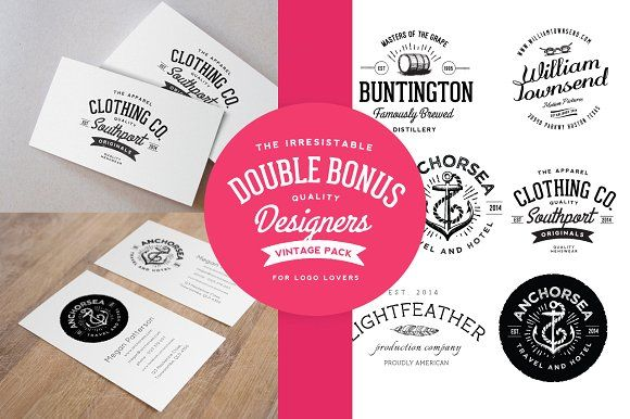 Business card mockup & Vintage Logos by Nicky Laatz on @creativemarket