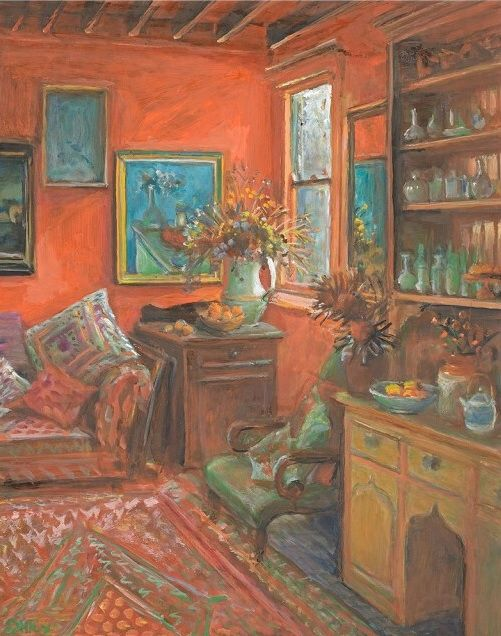 """Margaret Olley (1923-2011) - """"Interior, Duxford Street"""", c.1978 - Oil on board (Private collection)"""