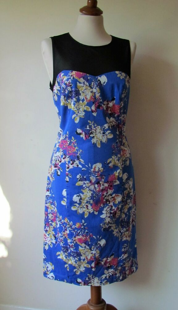 Womens Myleene Klass Floral Shift Bodycon Dress Size 14 Fashion Clothing Shoes Accessories Womensclothing Dresses Size 12 Maxi Dress Vintage Dresses 50s