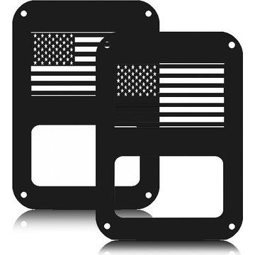 Tail Lamp Cover, Topist Generic Tail Light Cover Trim Guards Protector for Jeep Wrangler Jk Sahara Sport Rubicon Unlimited X X-s Mountain Islander Wilys Wheeler Polar Freedom 2007-2016,Set of 2