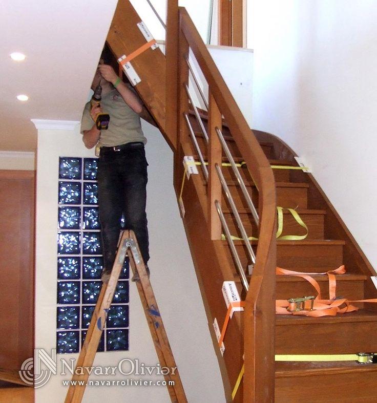 proceso de montaje de escalera de madera by navarrolivier.com #escalera #carpinteria #madera #bois #stair #montaje #charpentier #navarrolivier #menuiserie