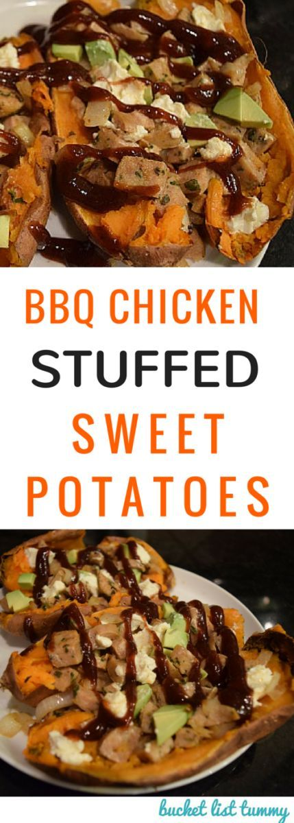BBQ Chicken Sweet Potatoes