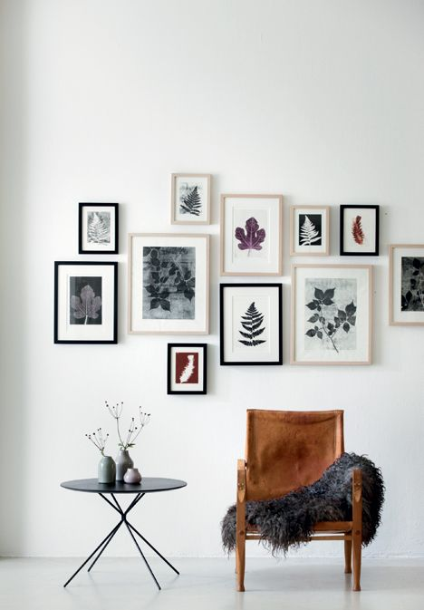Danish living - gallery wall with floral print by artist Pernille Møller Folcarelli