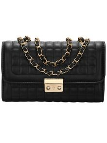 Black Plaid Chain Satchel Bag - Was $32.64 / NOW $19.91 (Sale)