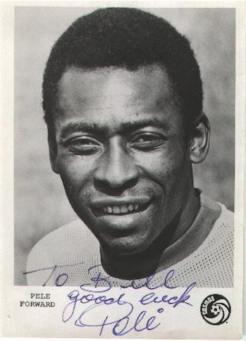 Pele born Oct. 23, 1940.  Edson Arantes do Nascimento.  Pele scored 1,281 goals in 1,363 games.  He retired in 1977.  He went to the World Cup three times.