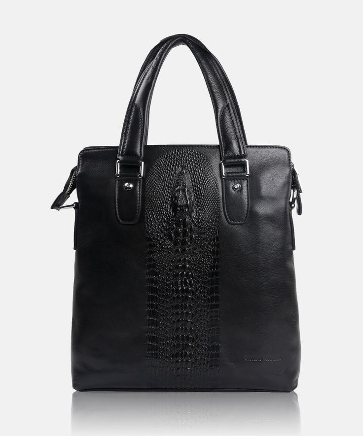 Giorgio Agnelli men's genuine leather bag GA 8353-2 Black #leather #menbag #bags #leatherbags #menfashion #fashion