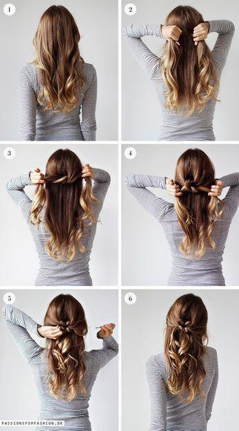 Schnelle Frisuren Mit Langen Haaren Schicke Einfachefrisuren