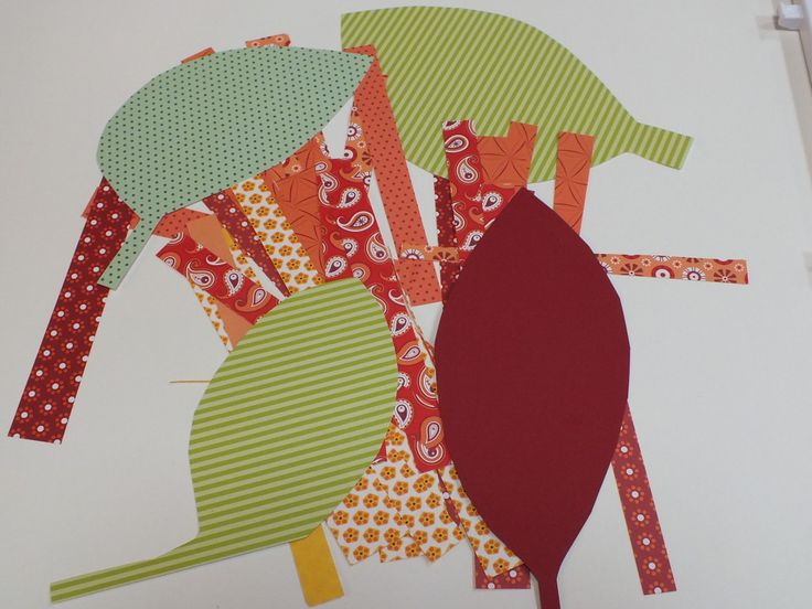 papírmaradékból őszi levelek