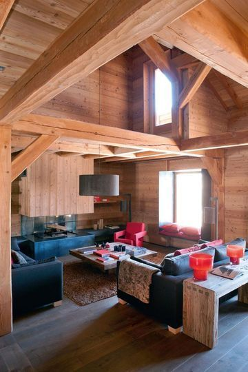 Welcoming living-room in this chalet