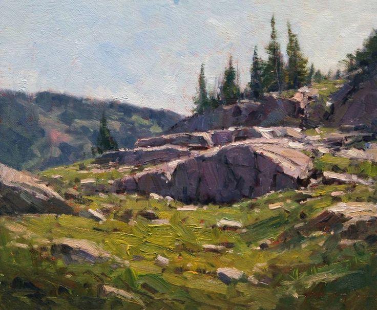 John Hughes Landscapes Oil Pastel Acrylic