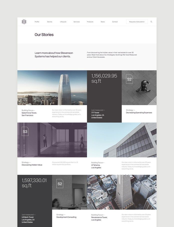 Modern and sleek website design.