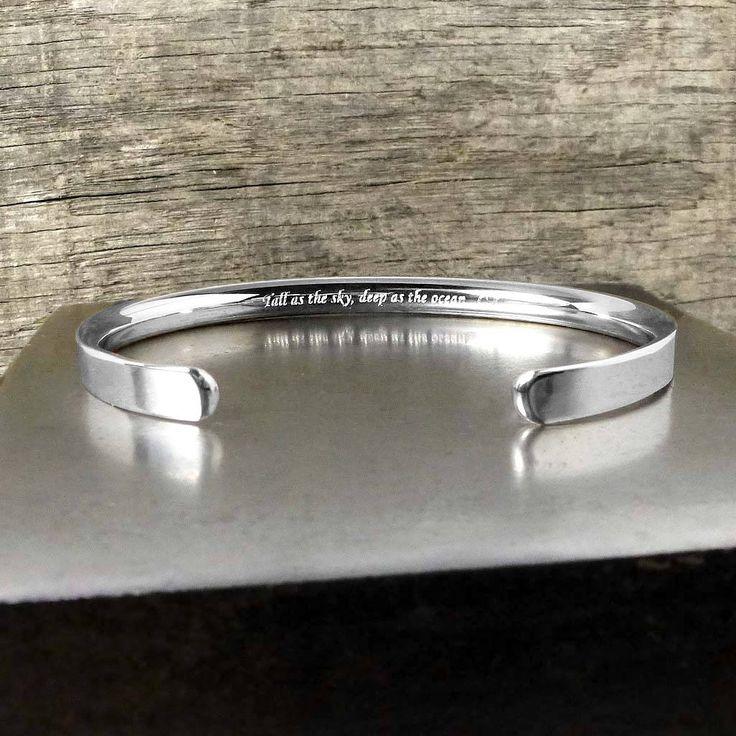 Silver Personalised Men's Bracelet