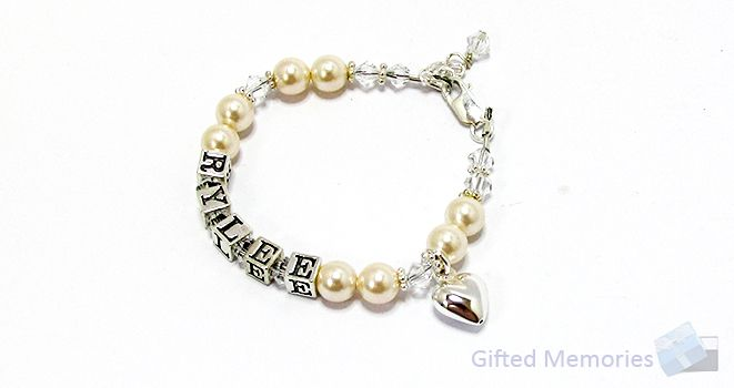 Naming Day Personalised Name Bracelet. Find it at www.giftedmemoriesjewellery.com.au