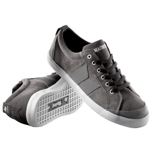 Macbeth Eliot Premium Shoes - Dark Grey White