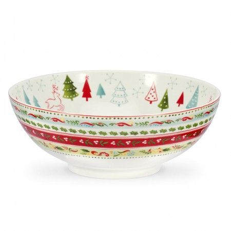 Portmeirion Christmas Wish serving bowl, 24cm