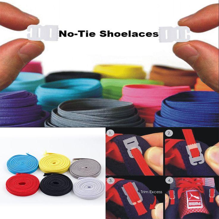 Élastique Aucun Cravate Lacets Entraîneur Sportif de Course Se Faufile Chaussures lacets DIY