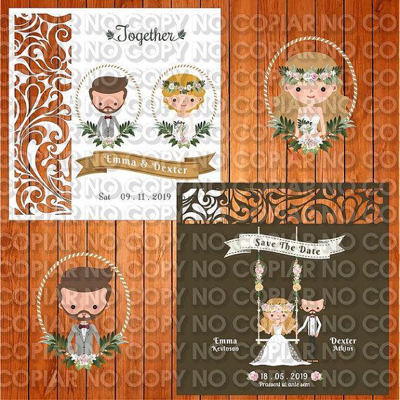 Invitation of the wedding card template Monogram, Arabesque, romantic (ai, eps, svg) lasercut download immediately, vector for invitation