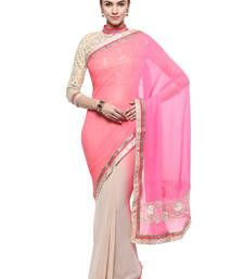 Buy Green plain shimmer saree With Blouse shimmer-saree online