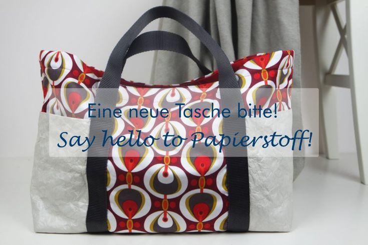 Kostenloses Schnittmuster und Anleitung für eine große Tasche.