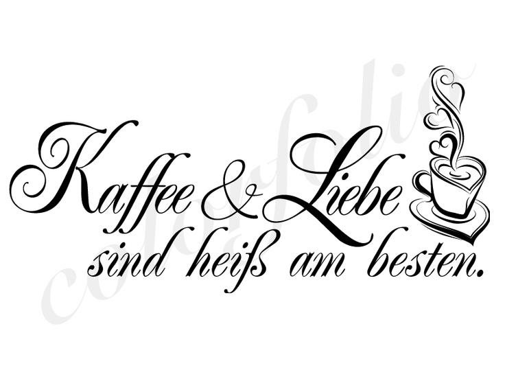 Wandtattoo Kaffee & Liebe - Wandtattoos, Wandsticker, Wandaufkleber