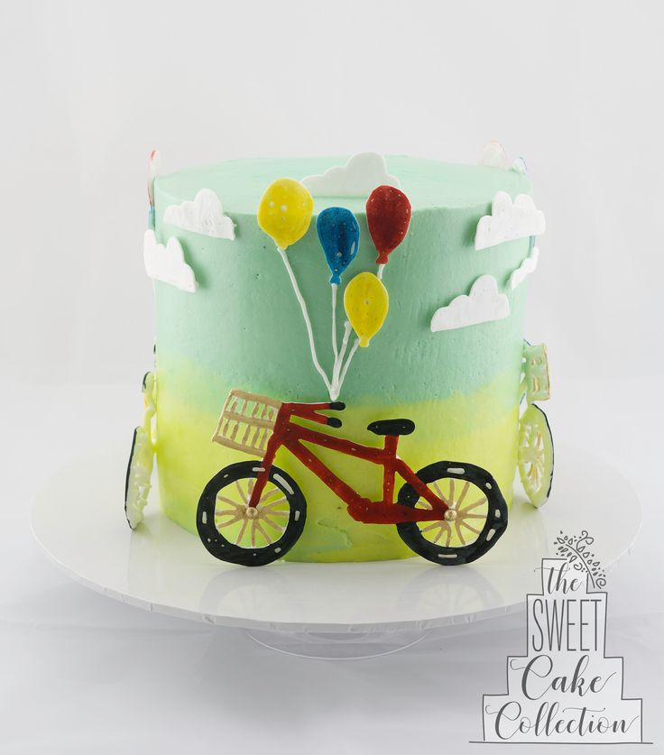 Bikes and Balloons Cake
